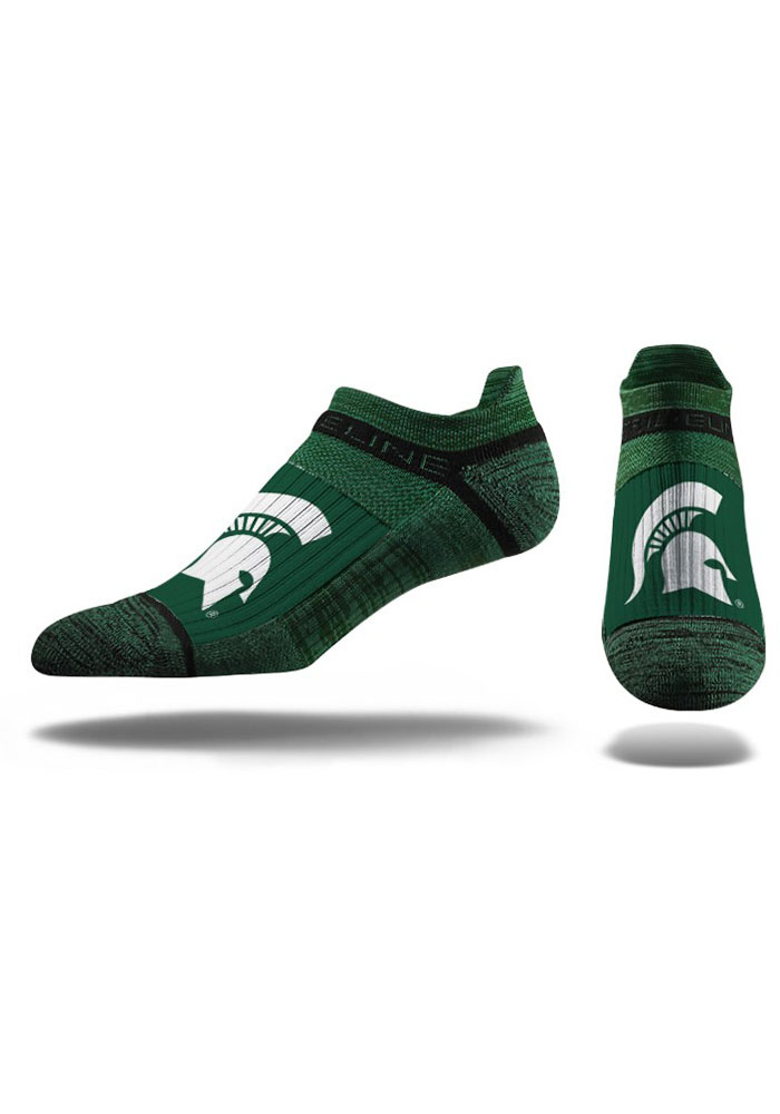 Strideline Michigan State Spartans Team Logo Mens No Show Socks - Image 1