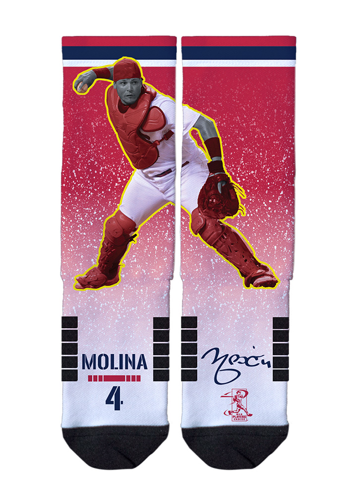 Yadier Molina Action Mens Crew Socks - Image 1