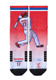 Rhys Hoskins Philadelphia Phillies Strideline Action Crew Socks - Red