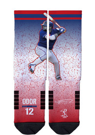 Rougned Odor Texas Rangers Strideline Action Crew Socks - Red