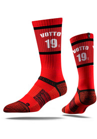 Joey Votto Cincinnati Reds Mens Red Sherzy Crew Socks