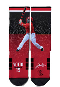 Joey Votto Cincinnati Reds Strideline Action Crew Socks - Red