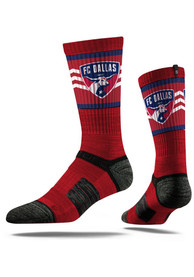 FC Dallas Strideline Team Logo Crew Socks - Crimson