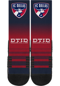 FC Dallas Strideline DTID Crew Socks - Navy Blue
