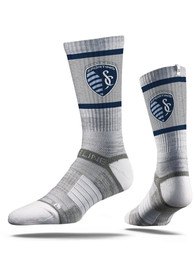 Sporting Kansas City Strideline Team Logo Crew Socks - Grey