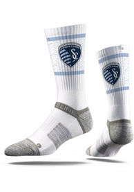 Sporting Kansas City Strideline Team Logo Crew Socks - White