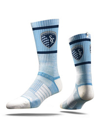 Sporting Kansas City Strideline Team Logo Crew Socks - Blue