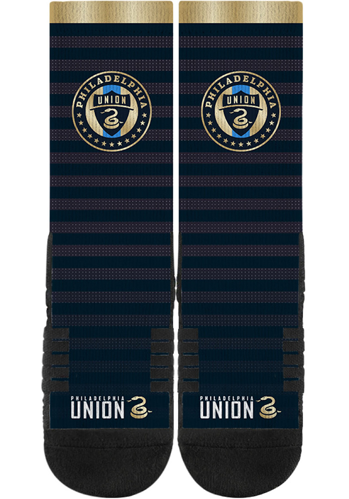 Philadelphia Union Strideline Team Logo Mens Crew Socks - Image 1