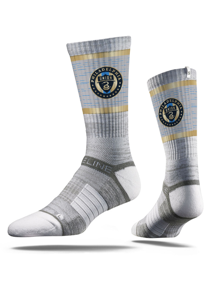 Philadelphia Union Strideline Team Logo Crew Socks - Grey