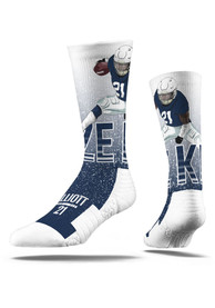 Ezekiel Elliott Dallas Cowboys Strideline Player Crew Socks - Navy Blue