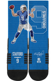 Matthew Stafford Detroit Lions Strideline Player Crew Socks - Blue
