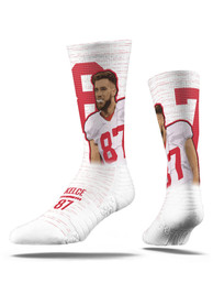 Travis Kelce Kansas City Chiefs Strideline Player Crew Socks - White