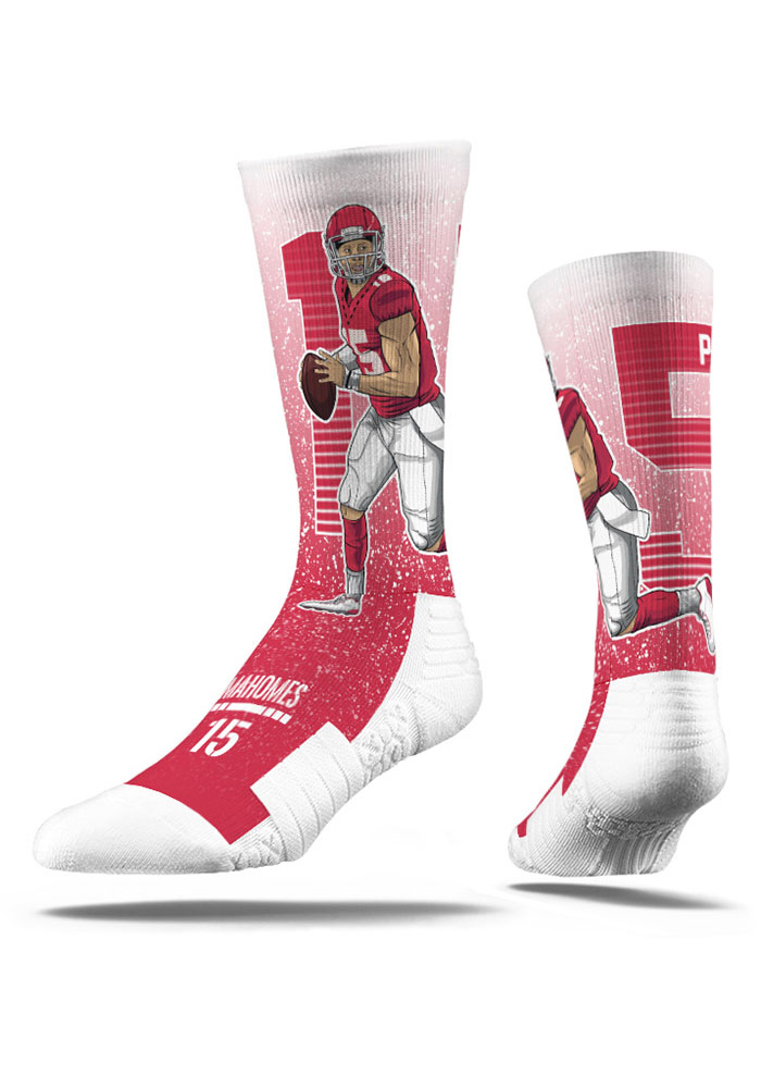 Patrick Mahomes Mens Red Player Crew Socks - Image 1