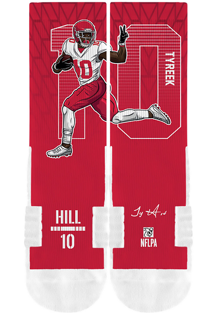 Tyreek Hill Player Mens Crew Socks - Image 4