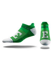Strideline Eastern Michigan Eagles Mens Green Performance No Show Socks