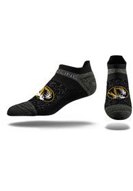 Strideline Missouri Tigers Mens Black Performance No Show Socks