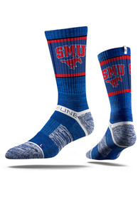 SMU Mustangs Strideline Performance Crew Socks - Blue