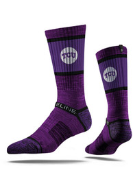 Strideline TCU Horned Frogs Mens Purple Baseball Crew Socks
