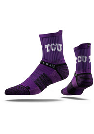 Strideline TCU Horned Frogs Mens Purple Performance Quarter Socks