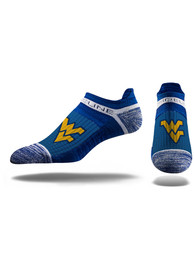 Strideline West Virginia Mountaineers Mens Blue Performance No Show Socks