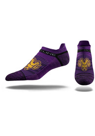 Strideline West Chester Golden Rams Mens Purple Performance No Show Socks
