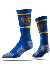 Kansas City Strideline Sign Crew Socks - Blue