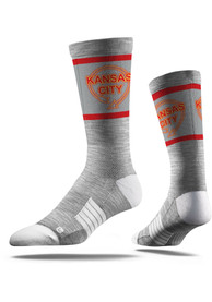 Kansas City Strideline Sign Crew Socks - Grey