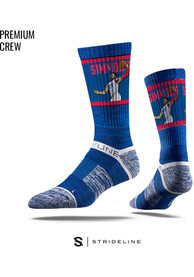 Ben Simmons Philadelphia 76ers Mens Blue Action Crew Socks