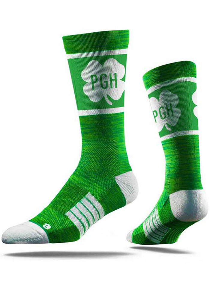 Pittsburgh Strideline St Pats Mens Crew Socks - Image 1