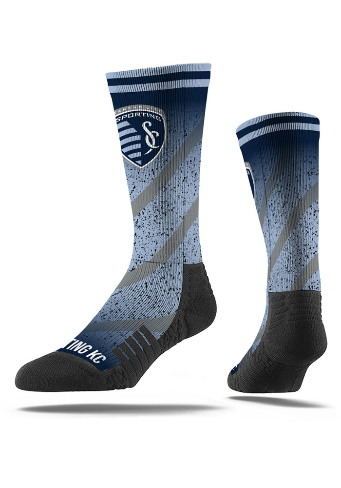 Sporting Kansas City Strideline Comfy Full Sub Crew Socks - Blue