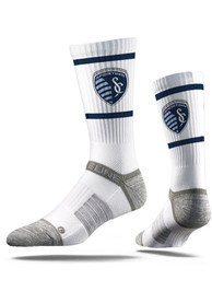 Strideline Sporting Kansas City Mens White Premium Crew Socks