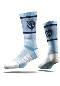 Strideline Sporting Kansas City Mens Blue Premium Crew Socks