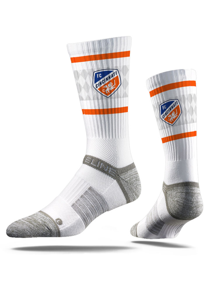FC Cincinnati Strideline Comfy Full Sub Crew Socks - White