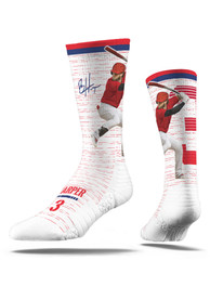 Bryce Harper Philadelphia Phillies Strideline Full Swing Crew Socks - White