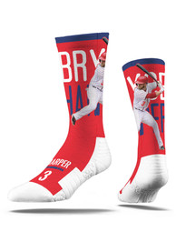 Bryce Harper Philadelphia Phillies Mens Red Wind Up Swing Crew Socks