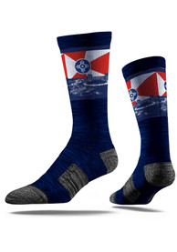 Wichita Strideline Skyline Crew Socks - Navy Blue