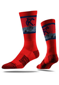Strideline Kansas City Mens Red Skyline Crew Socks