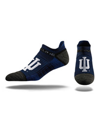 Strideline Indiana Hoosiers Mens Navy Blue Team Logo No Show Socks