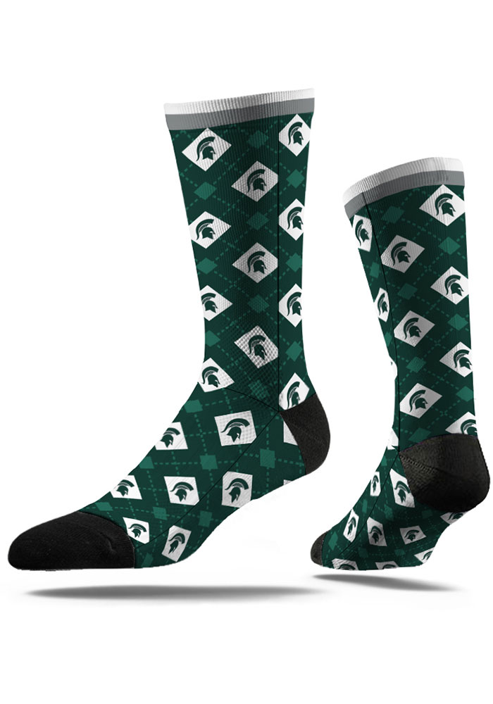 Michigan State Spartans Repeat Mens Argyle Socks - Image 1