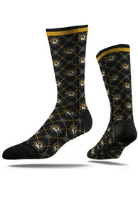 Strideline Missouri Tigers Mens Yellow Speckle Dress Socks