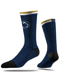Strideline Penn State Nittany Lions Mens Navy Blue Speckle Dress Socks
