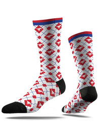 Strideline SMU Mustangs Mens White Repeat Argyle Socks