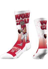 Patrick Mahomes Kansas City Chiefs Mens Red World Champ Crew Socks