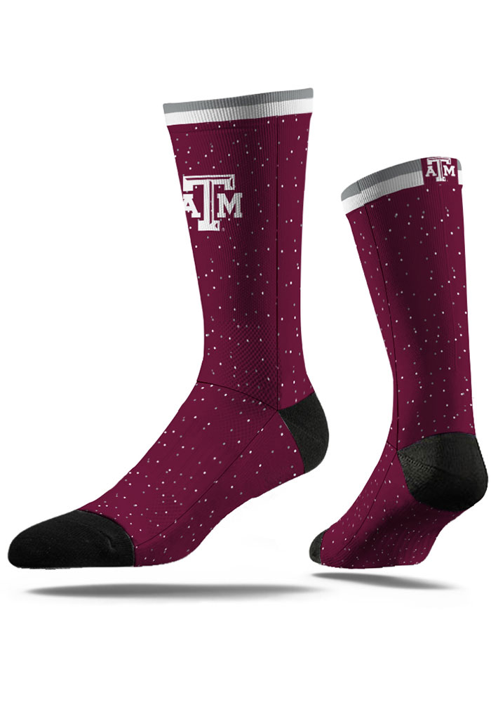 Texas A&M Aggies Classic Step Mens Dress Socks - Image 1
