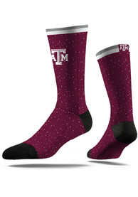Strideline Texas A&M Aggies Mens Maroon Classic Step Dress Socks