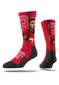Tyrann Mathieu Kansas City Chiefs Mens Red Face Crew Socks