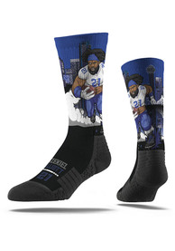 Ezekiel Elliott Dallas Cowboys Mens Black Super Hero Crew Socks