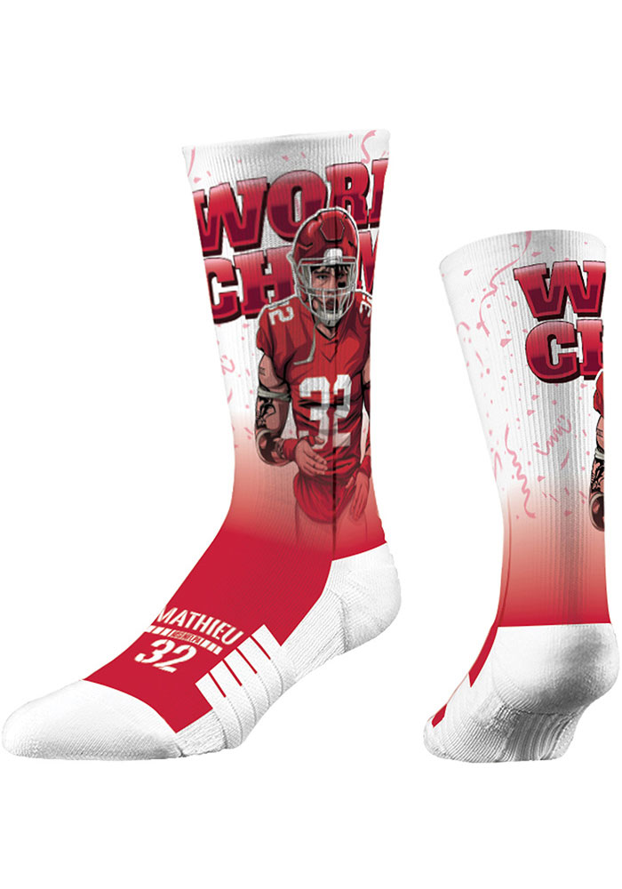 Tyrann Mathieu Kansas City Chiefs World Champ Mens Crew Socks - Image 1