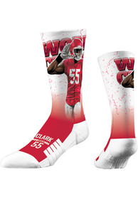 Frank Clark Kansas City Chiefs Strideline World Champ Crew Socks - Red