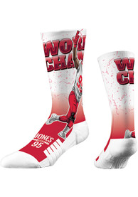 Chris Jones Kansas City Chiefs Strideline World Champ Crew Socks - Red